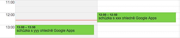 Google kalendář, google calendar