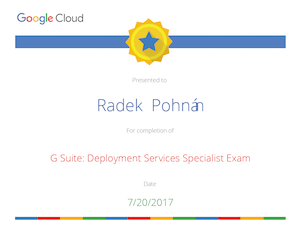 Google Cloud, G Suite Deployment Specialist Exam