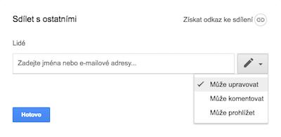 Sdílení a nastavení práv v G Suite pro Google disk